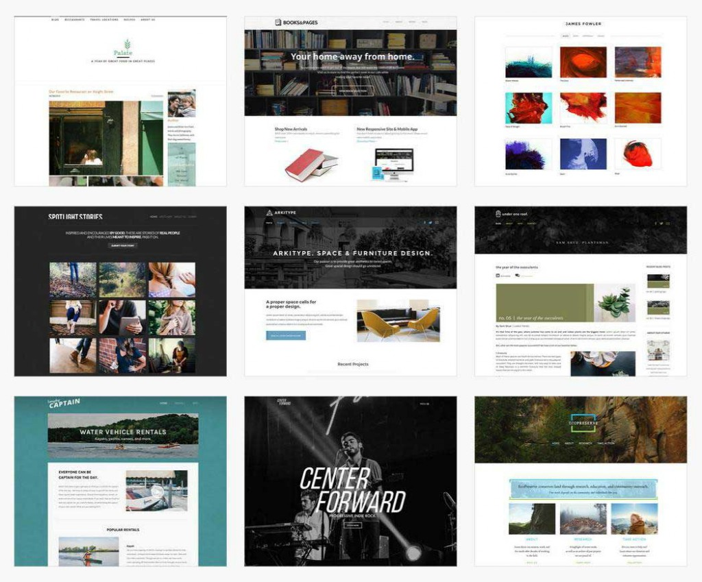 website templates for Weebly online website builder