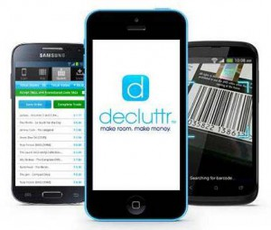 Decluttr has a free app bar code/price scanner