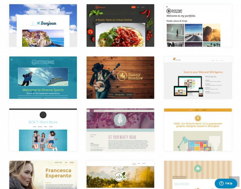 Jimdo has many beautiful website templates