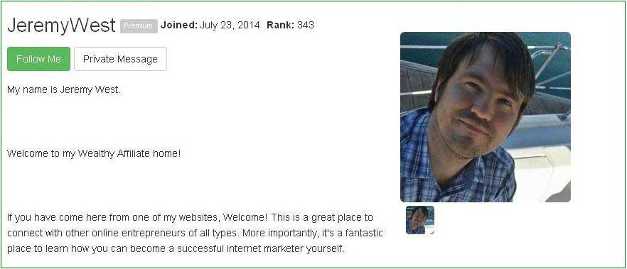 Jeremy's Profile Page and Link to Success Stories