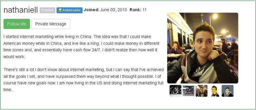 Nataniell's Wealthy Affiliate Succsss Stories Click to View