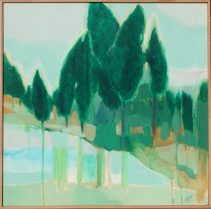 Green trees Abstract painting